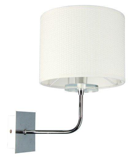 Kinkiet chromowy abażur tkany E14 40W lampa Estera Candellux 21-11473