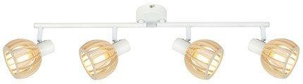 LAMPA ŚCIENNA  CANDELLUX ATARRI 94-68101 LISTWA  E14 BIAŁY+DREWNO