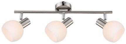 LAMPA ŚCIENNA  CANDELLUX MAURO 93-61607 LISTWA  E14 LED RGB SATYNA NIKIEL Z PILOTEM