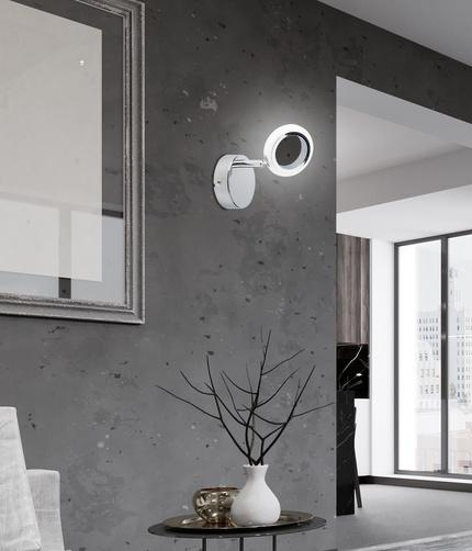 LAMPA ŚCIENNA KINKIET CANDELLUX AURELION 91-65247  LED CHROM 3000K