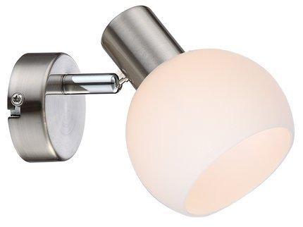LAMPA ŚCIENNA KINKIET CANDELLUX MAURO 91-61584  E14 LED RGB SATYNA NIKIEL Z PILOTEM