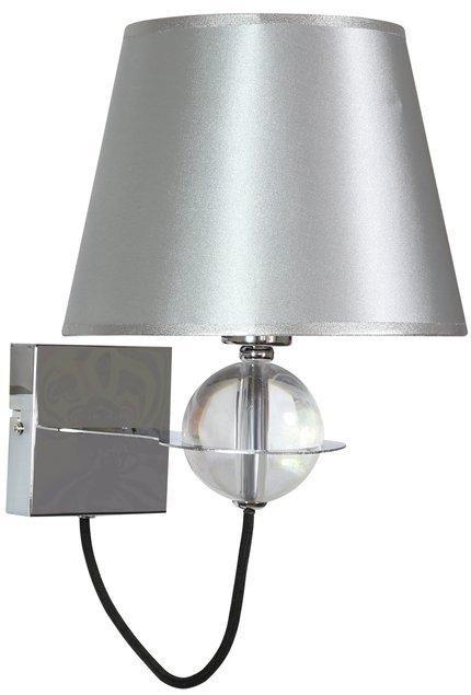 LAMPA ŚCIENNA KINKIET CANDELLUX TESORO 21-29522  E14 SREBRNY