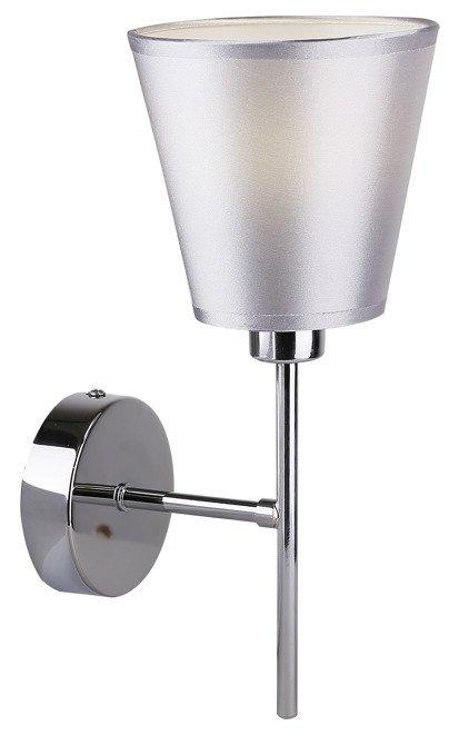 LAMPA ŚCIENNA KINKIET CANDELLUX VOX 21-70616  E14 CHROM Z ABAŻUREM
