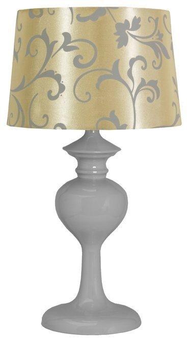 LAMPA STOŁOWA  CANDELLUX BERKANE 41-64431 E14 SZARY/BEŻOWY
