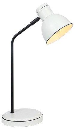 LAMPA STOŁOWA GABINETOWA CANDELLUX ZUMBA 41-72078 BIAŁY+CZARNY