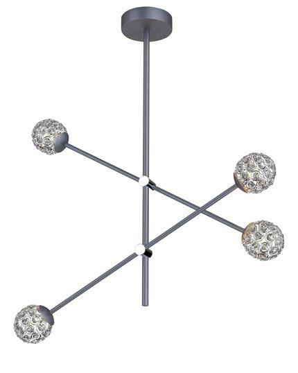 LAMPA SUFITOWA WISZĄCA CANDELLUX APETI PAKSOS G9 LED SZARY