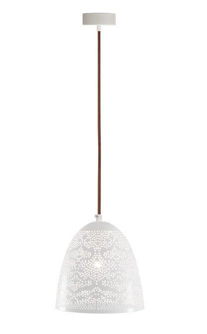 LAMPA SUFITOWA WISZĄCA CANDELLUX BENE 31-70340  STOŻEK  E27 AŻUROWY BIAŁY