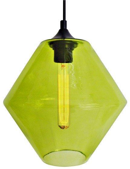 LAMPA SUFITOWA WISZĄCA CANDELLUX BREMEN 31-36353   E27 KLOSZ ZIELONY + ŻARÓWKA