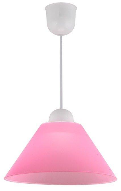 LAMPA SUFITOWA WISZĄCA CANDELLUX FAMA 31-20157 PLASTIK E27  RÓŻOWY PROMOCJA