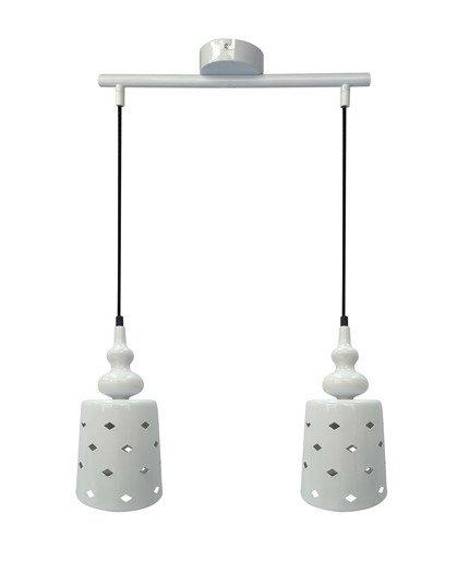 LAMPA SUFITOWA WISZĄCA CANDELLUX HAMP 32-51929  E27 BIAŁY