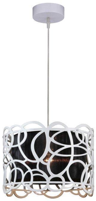 LAMPA SUFITOWA WISZĄCA CANDELLUX IMAGINE 31-70609   E27 BIAŁO CZARNY