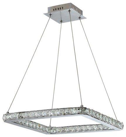 LAMPA SUFITOWA WISZĄCA CANDELLUX LORDS 31-34854 KWADRAT  24W LED CHROM