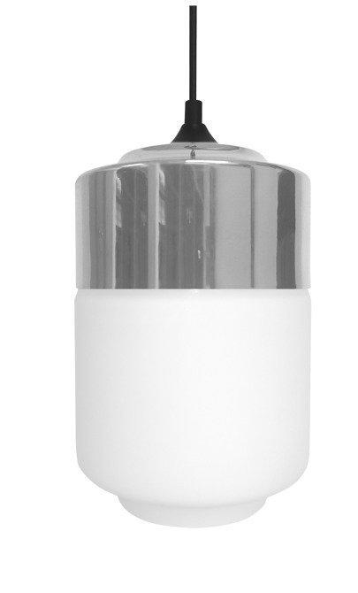 LAMPA SUFITOWA WISZĄCA CANDELLUX MASALA 31-40541  E27 BIAŁY Z CHROMOWANĄ NAKŁADKĄ