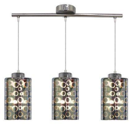 LAMPA SUFITOWA WISZĄCA CANDELLUX NOCTURNO 33-57709  E27 CHROM