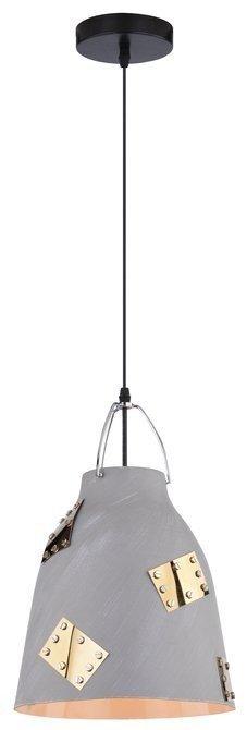 LAMPA SUFITOWA WISZĄCA CANDELLUX PATCH 31-43269   E27 SZARY + ZŁOTY DEKOR