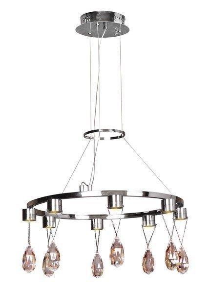 LAMPA SUFITOWA WISZĄCA CANDELLUX PRISMA 38-26064  LED CHROM