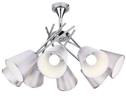LAMPA SUFITOWA WISZĄCA CANDELLUX VOX 38-70647  E14 CHROM Z ABAŻUREM