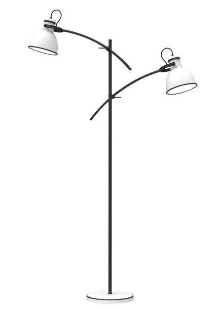 Lampa Podłogowa Candellux Zumba Sztyca Prosta 52-72672 Biały+Czarny