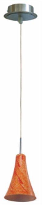 Lampa Sufitowa Candellux Wyprzedaż 31-14644 Rufi Zwis 1X40 W E14 Chrom/Satyna Nikiel