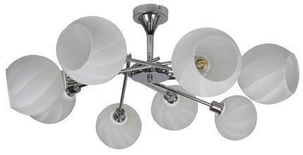 Lampa Sufitowa Wisząca Candellux Raul 38-72290 E14 Chrom Klosz Biały