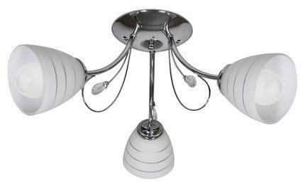 Lampa Sufitowa Wisząca Candellux Simpli 33-63847 E27 Chrom Z Kryształkiem + Klosz Z Paskiem
