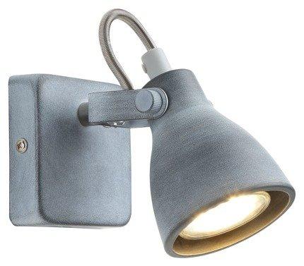 Lampa ścienna kinkiet 1x40W GU10 szary mat ASH 91-64394
