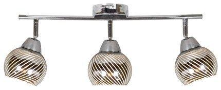 Lampa ścienna listwa 3X10W E14 LED chrom FORT 93-62826