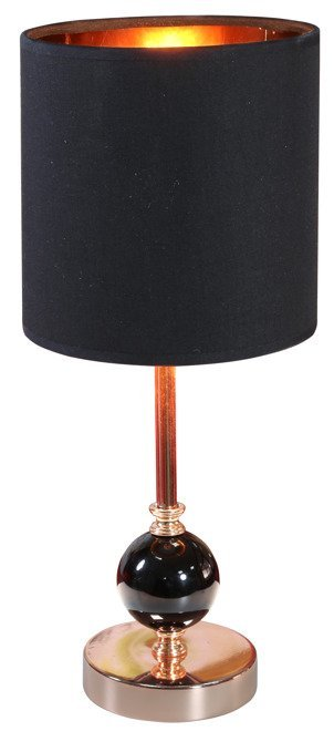 Lampa stołowa gabinetowa czarna/miedziana 40W E14 Melba 41-38791