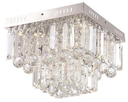 Lampa sufitowa LED chrom z kryształkami 4000K Carmina Candellux 98-44716