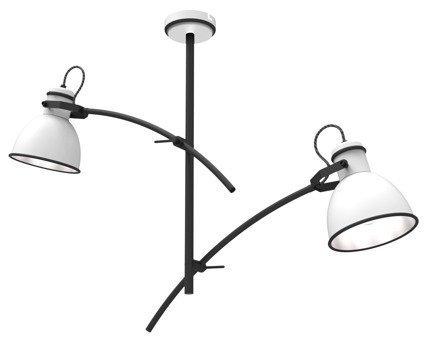 Lampa sufitowa biało-czarna regulowana 2x60W Zumba Candellux 32-72054