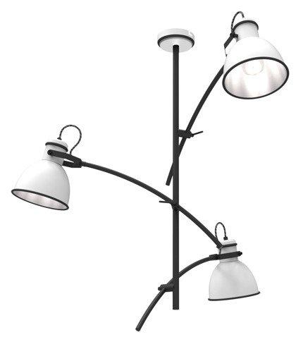 Lampa sufitowa biało-czarna regulowana 3x60W Zumba Candellux 33-72061
