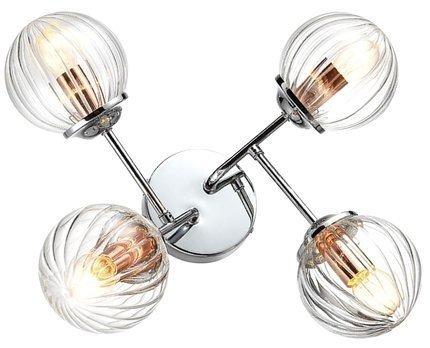 Lampa sufitowa chrom+miedź 4x40W Best Candellux 34-67265