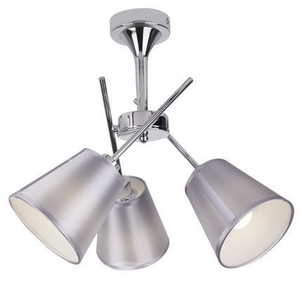 Lampa sufitowa chromowa abażur z tkaniny 3x40W Vox Candellux 33-70623