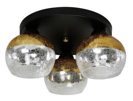 Lampa sufitowa czarna złote lustrzane klosze 3x60W Cromina Gold Candellux 98-57280