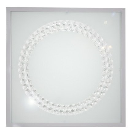 Lampa sufitowa plafon 29X29 16W LED 4000K satyna ring LUX 10-64479