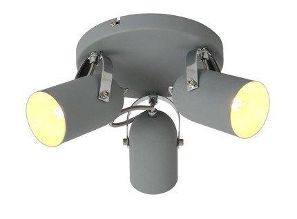 Lampa sufitowa plafon 3X40W E14 szary GRAY 98-66503