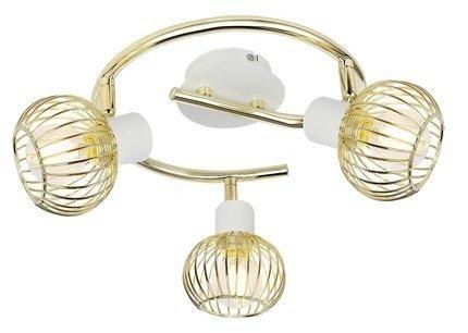 Lampa sufitowa spirala 3X40W E14 biały/złoty OSLO 98-61829