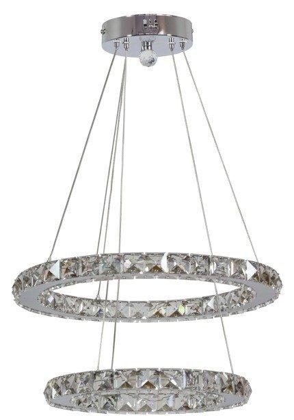 Lampa sufitowa wisząca LED 2 okręgi z kryształami Lords Candellux 31-32515