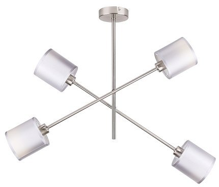 Lampa sufitowa wisząca satyna nikiel sztyca 4x40W Sax Candellux 34-70692