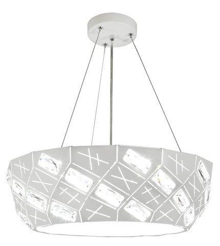 Lampa wisząca LED biała okrągła z kryształkami 24W Glance Candellux 31-64851