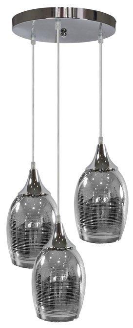 Lampa wisząca chromowa lustrzane klosze 3x60W Marina Candellux 33-60181