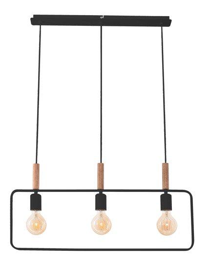 Lampa wisząca czarna regulowana wysokość 3x60W E27 Frame Candellux 33-73525