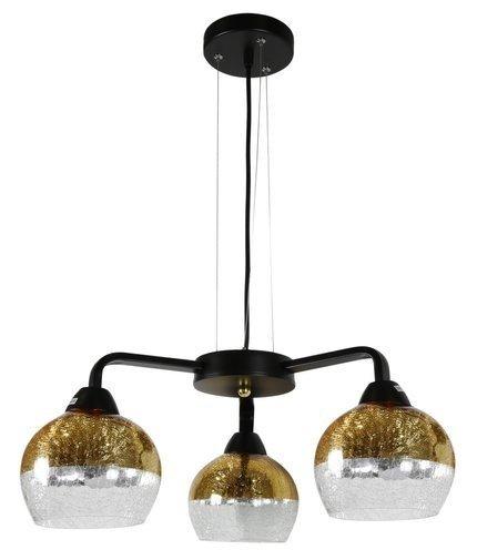 Lampa wisząca czarno-złota regulowana 3x60W Cromina Gold Candellux 33-57259