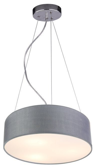 Lampa wisząca okrągła szara 40cm regulowana 3x40W Kioto Candellux 31-67722