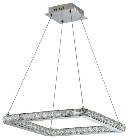 Lampa wisząca sufitowa chromo LED z kryształami Lords Candellux 31-34854