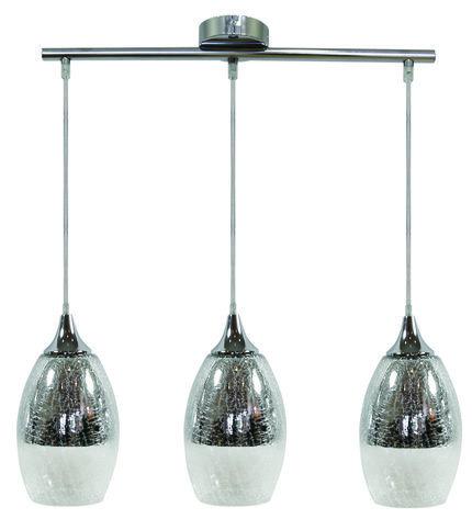 Lampa wisząca złota szklana regulowana 3x60W Celia Candellux 33-51585