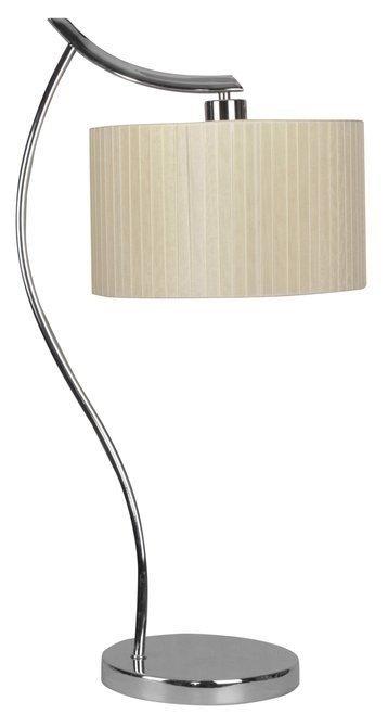 Lampka biurkowa chromowa gabinetowa kremowy abażur Draga Candellux 41-04239