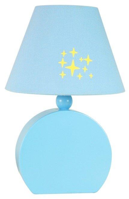 Lampka stołowa nocna niebieska 40W E14 MDF Ofelia 41-62461