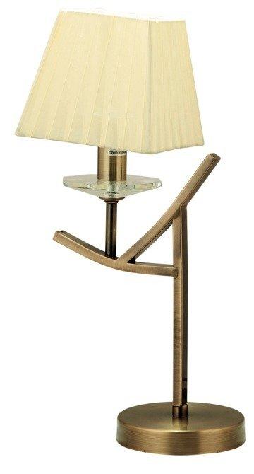 Lampka stołowa nocna patynowa abażur żółty E14 Valencia Candellux 41-84593