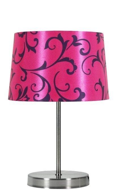 Lampka stołowa różowa/chrom Arosa 41-55866